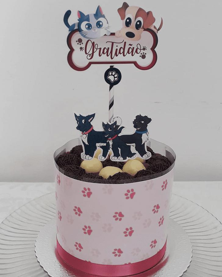 Adorable Dog Cake