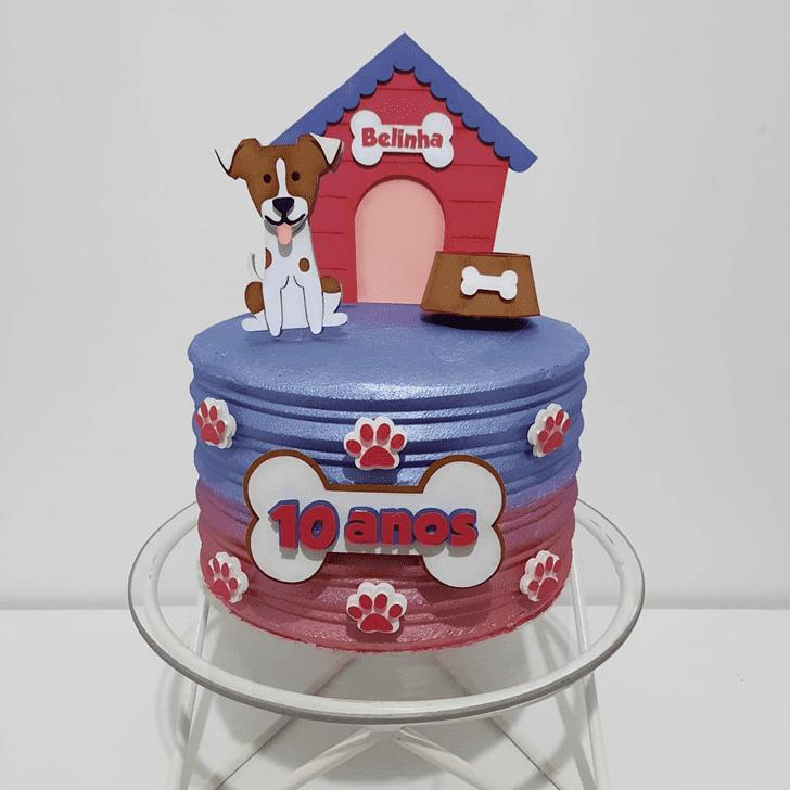 Beauteous Dog Cake