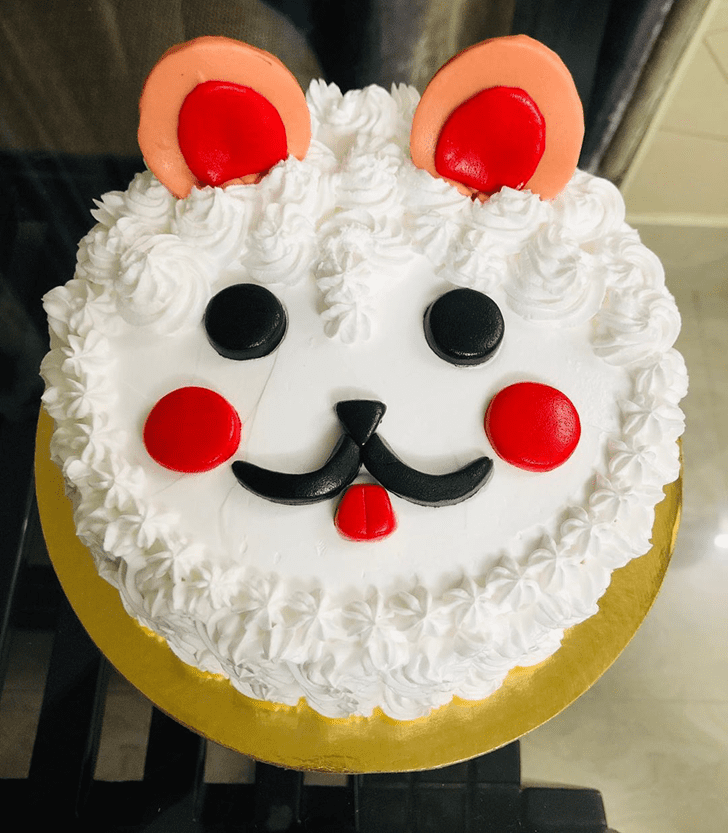 Delicate Dog Cake