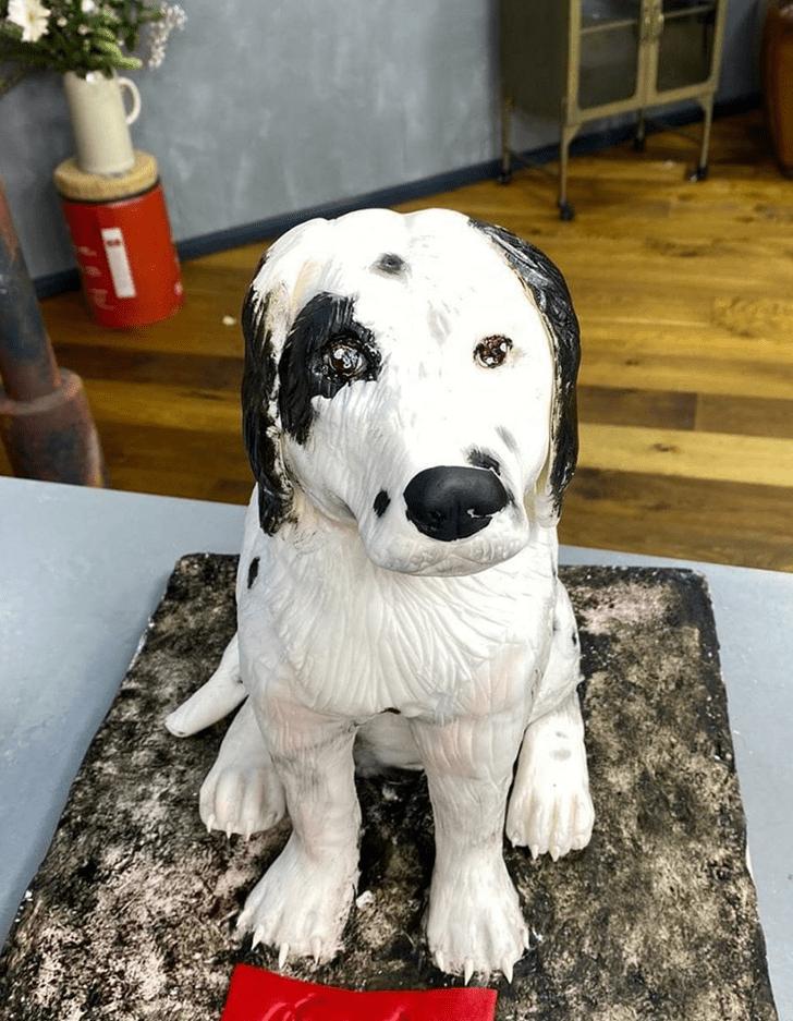 Inviting Dog Cake