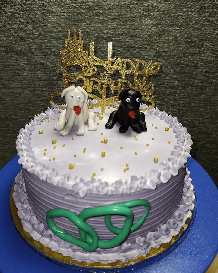Mesmeric Dog Cake