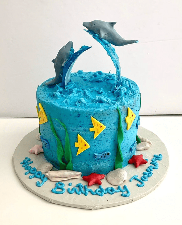 Appealing Dolphin Cake