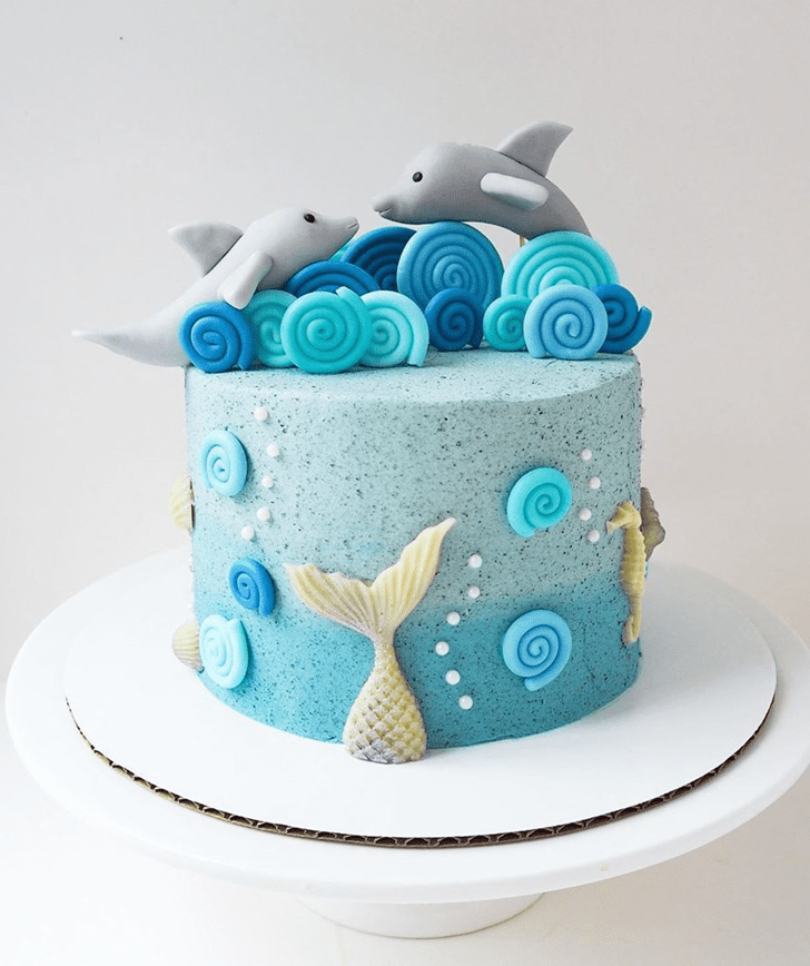 Bewitching Dolphin Cake
