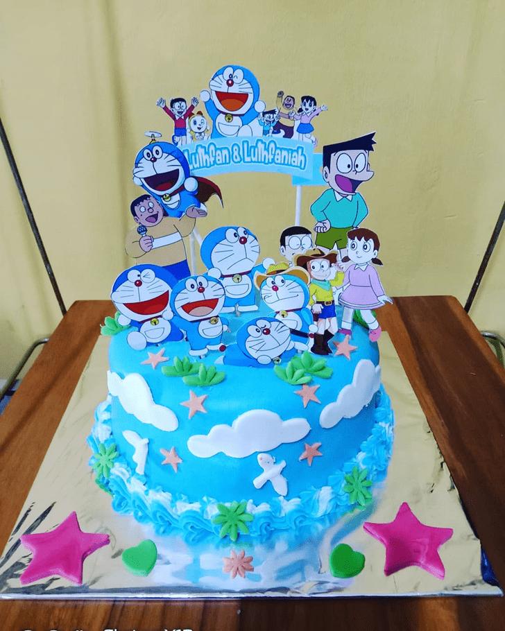 Pleasing Doraemon Cake