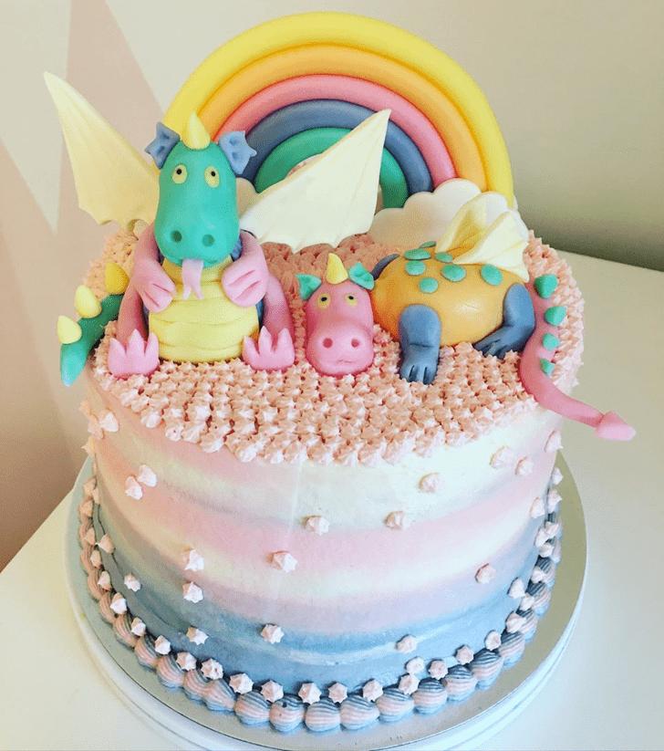 Beauteous Dragon Cake