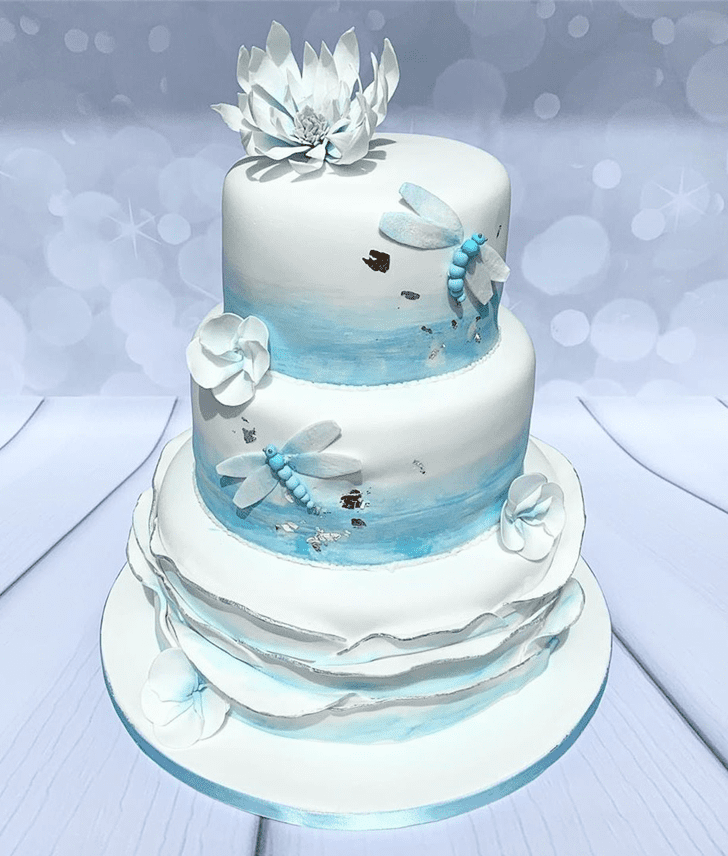 Admirable Dragonfly Cake Design