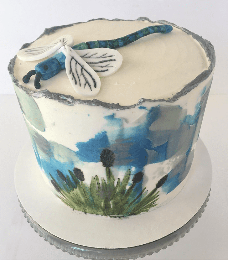 Appealing Dragonfly Cake