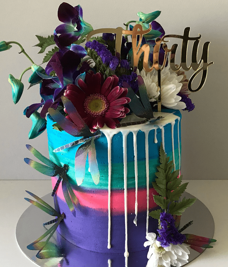 Beauteous Dragonfly Cake