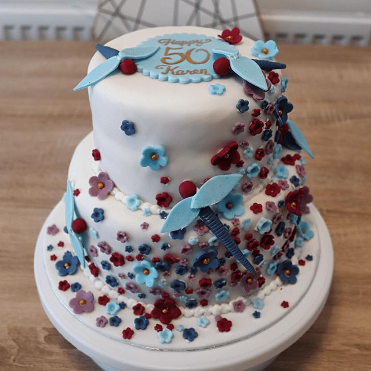 Captivating Dragonfly Cake