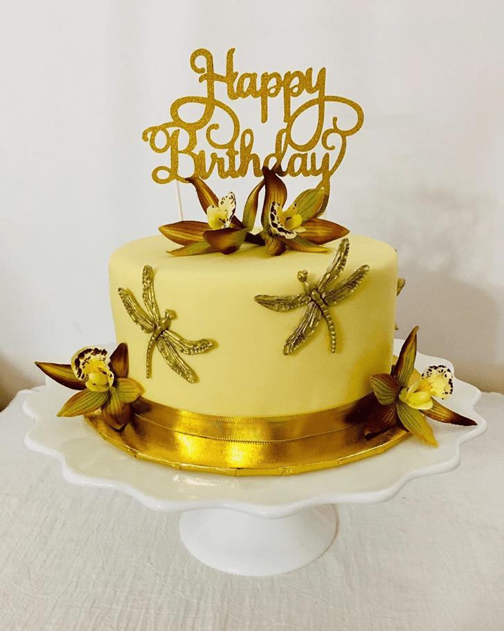 Classy Dragonfly Cake