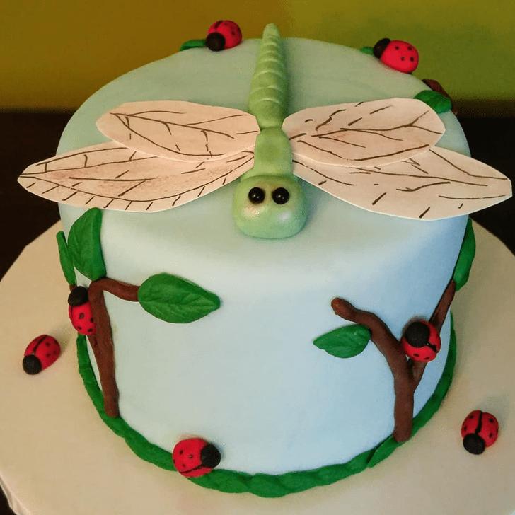 Cute Dragonfly Cake