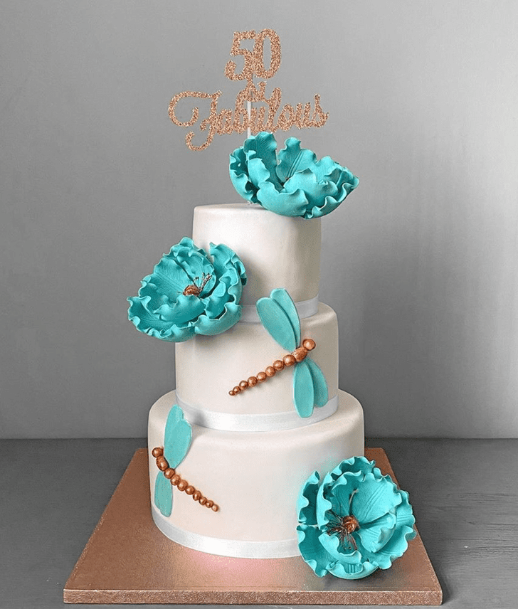 Delicate Dragonfly Cake