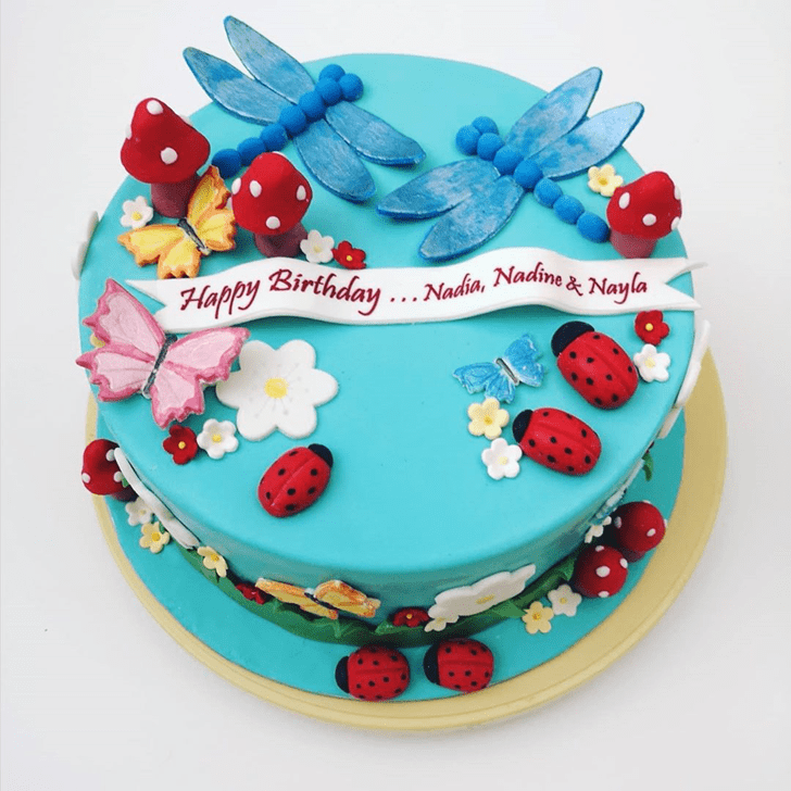 Enticing Dragonfly Cake