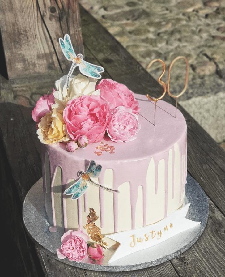 Fine Dragonfly Cake