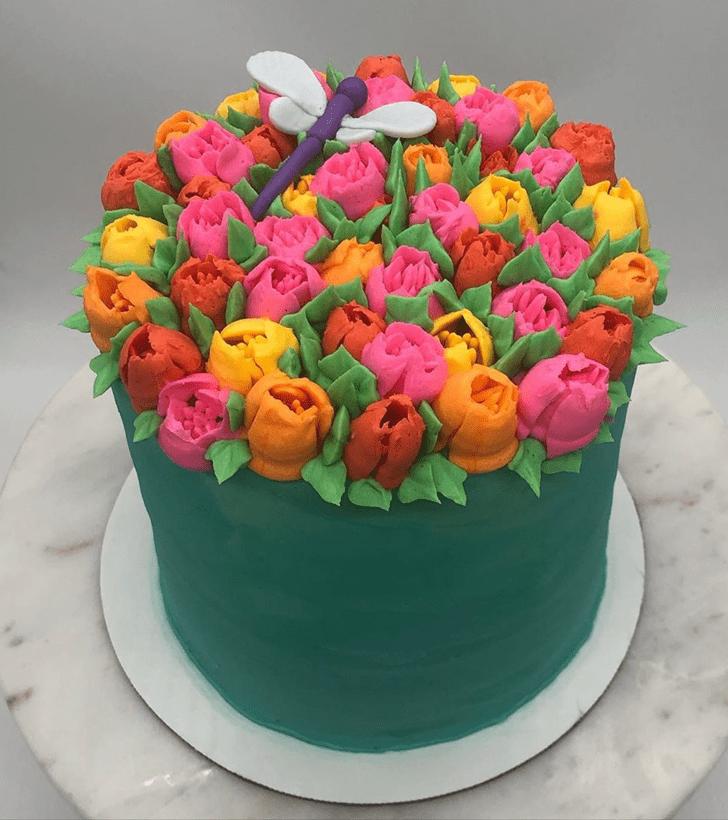 Gorgeous Dragonfly Cake