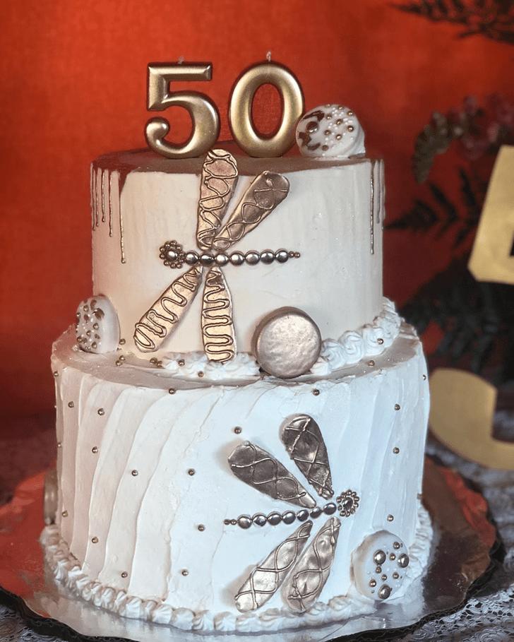 Graceful Dragonfly Cake