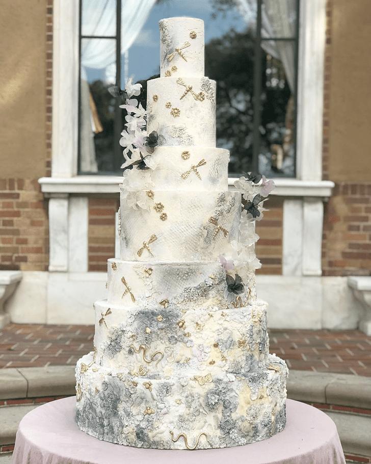 Ravishing Dragonfly Cake