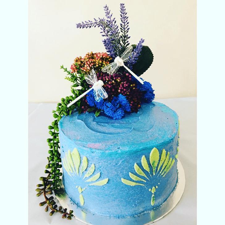Stunning Dragonfly Cake