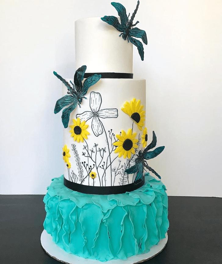 Superb Dragonfly Cake