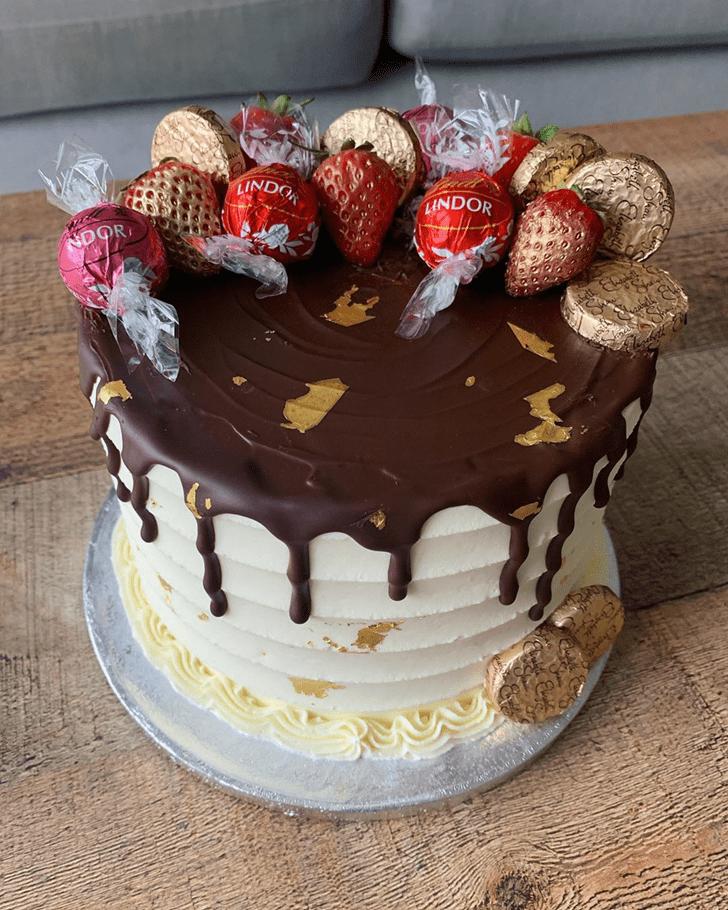 Graceful Drip Cake