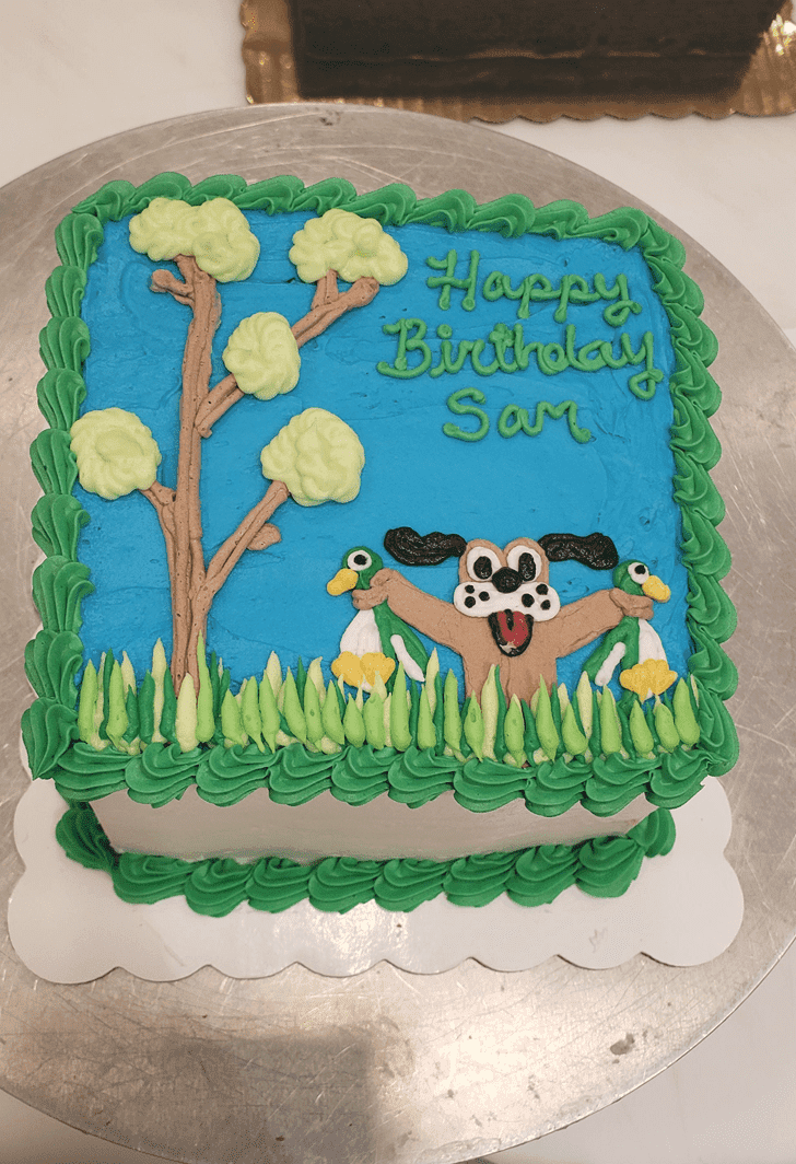 Admirable Duck Hunt Cake Design