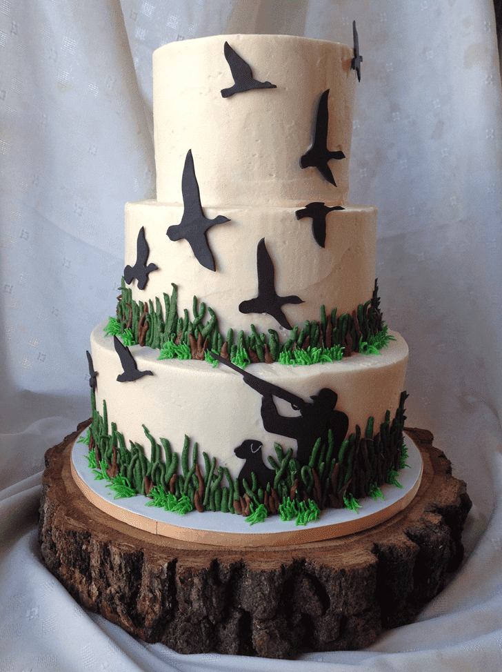 Angelic Duck Hunt Cake