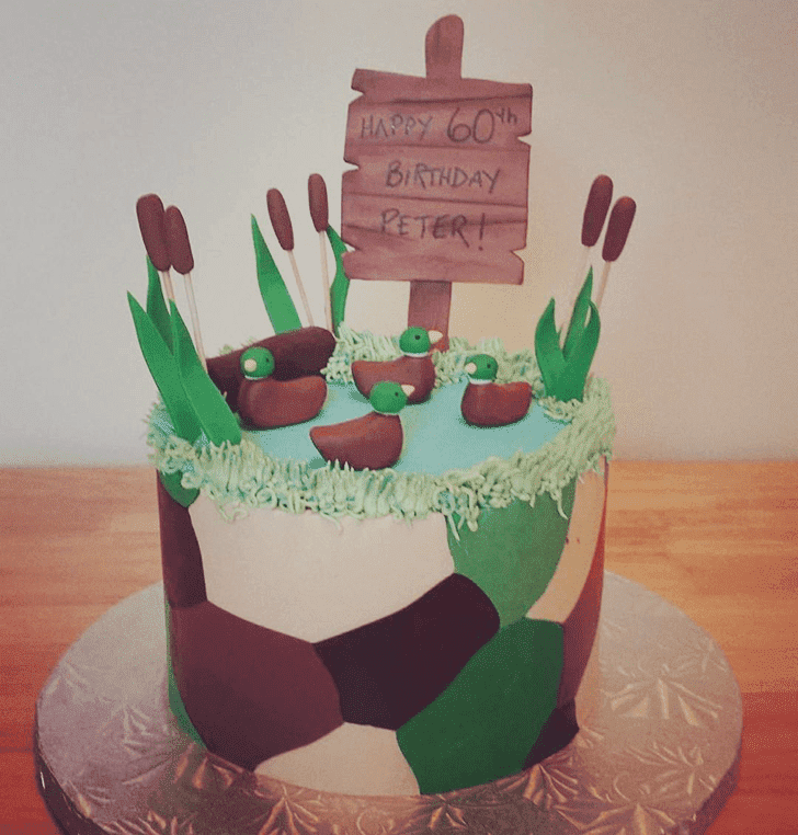 Beauteous Duck Hunt Cake