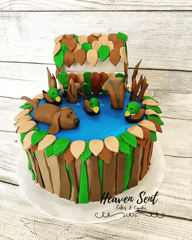 Bewitching Duck Hunt Cake