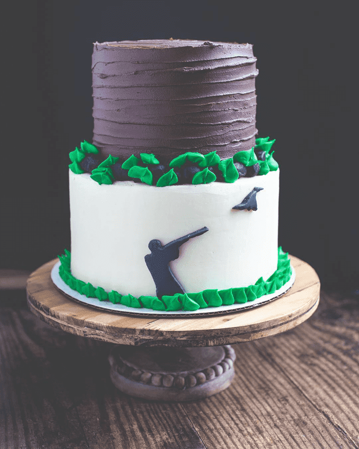 Captivating Duck Hunt Cake