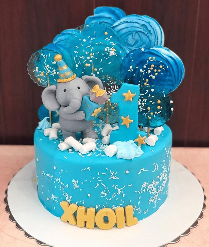 Appealing Elephant Cake