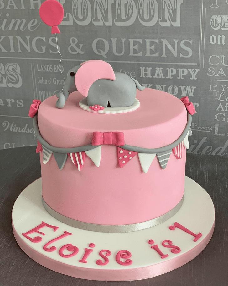 Charming Elephant Cake