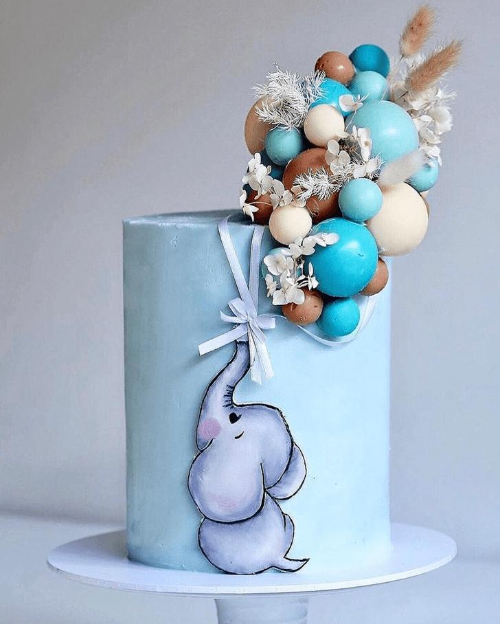 Comely Elephant Cake