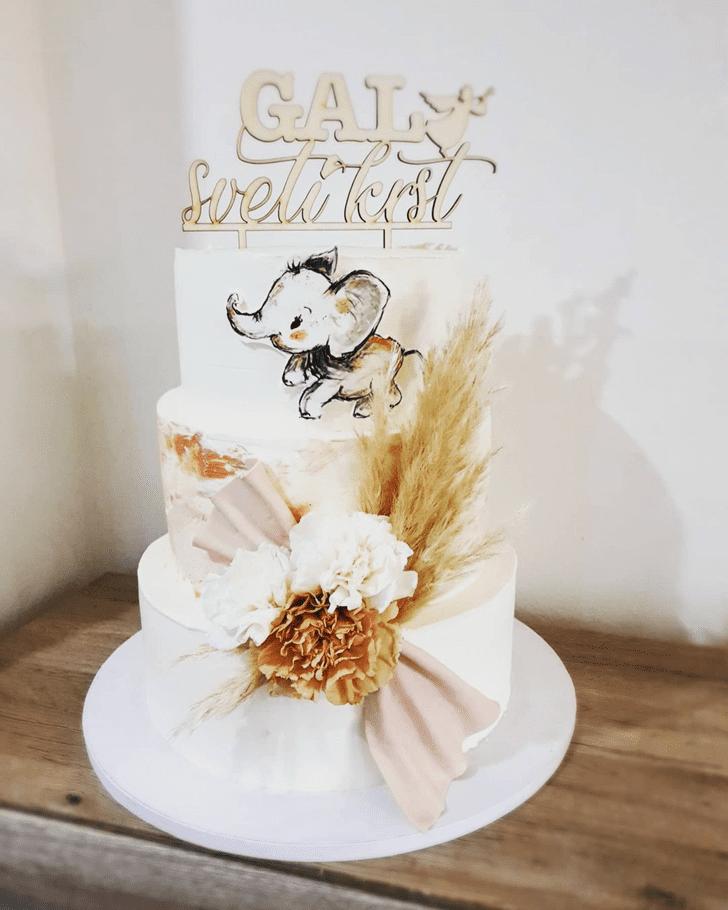 Delicate Elephant Cake