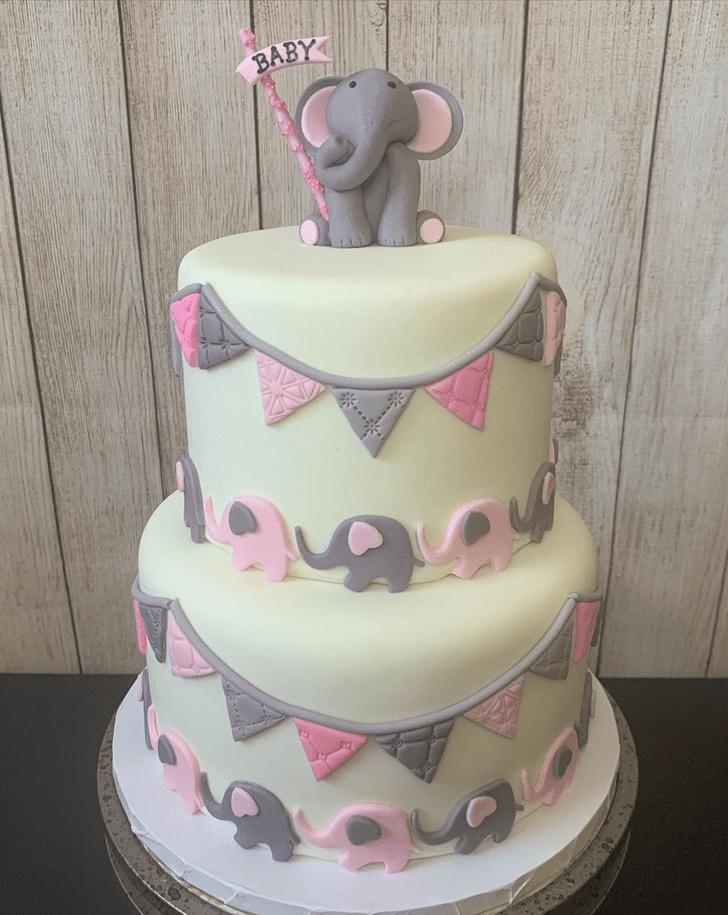 Lovely Elephant Cake Design