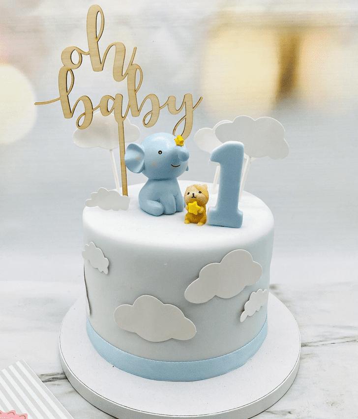 Radiant Elephant Cake