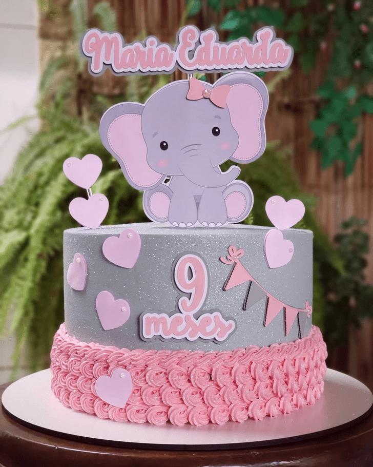 Resplendent Elephant Cake