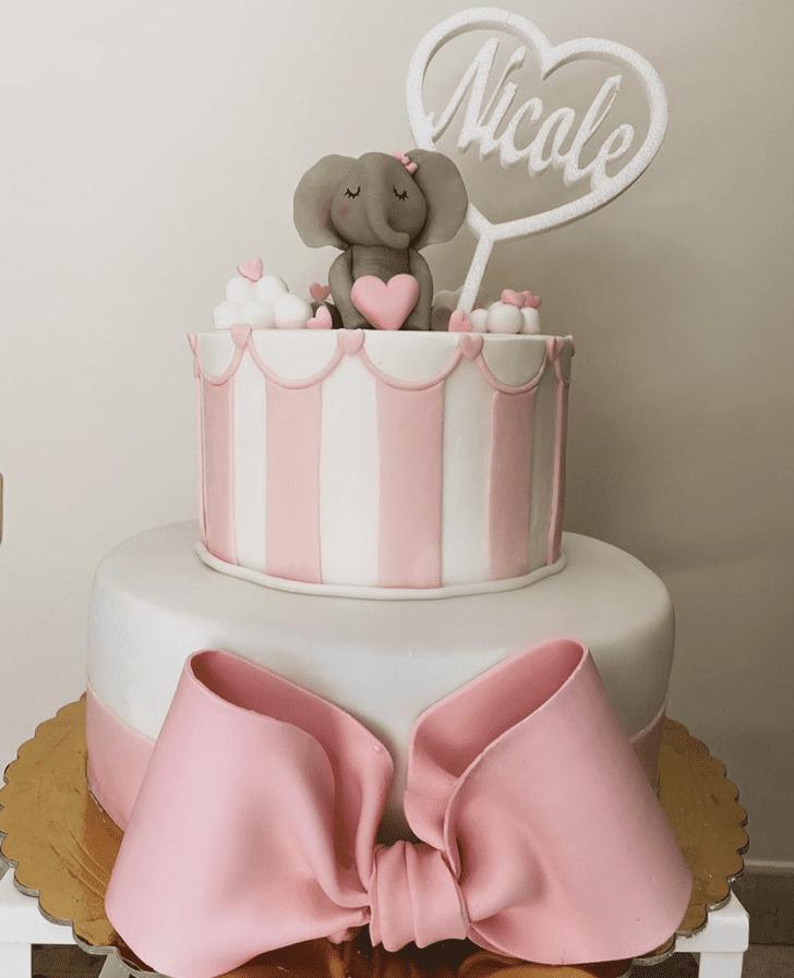 Shapely Elephant Cake