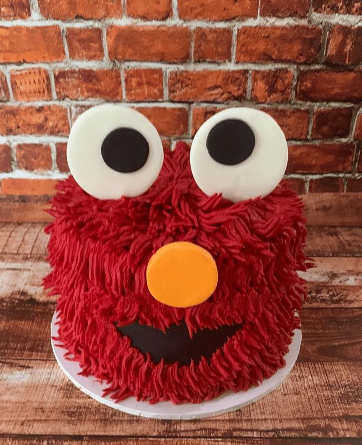 Admirable Elmo Cake Design