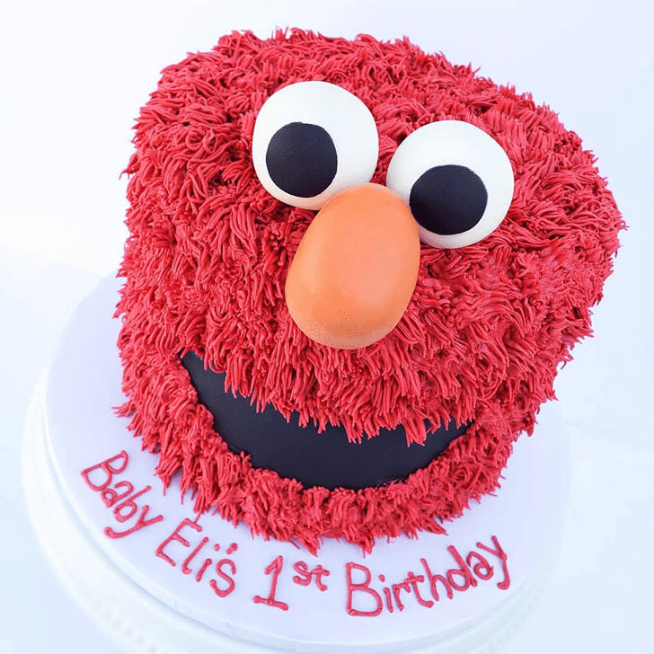 Alluring Elmo Cake
