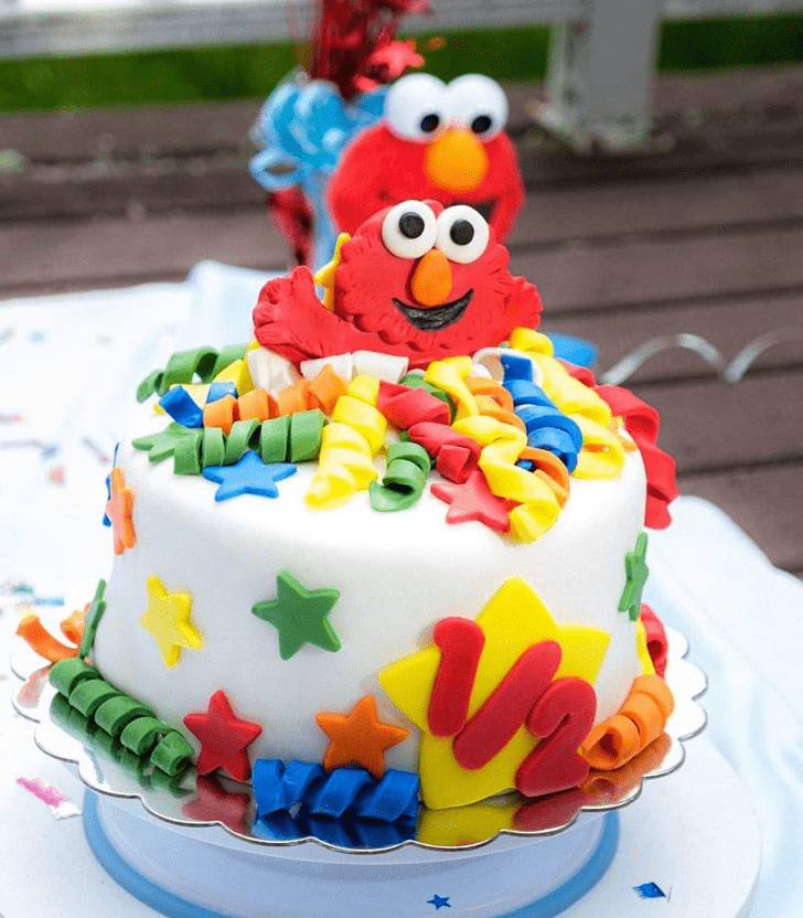 Dazzling Elmo Cake