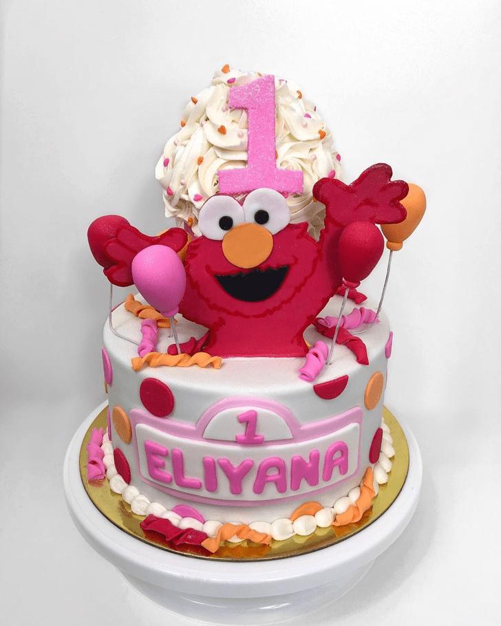 Elegant Elmo Cake
