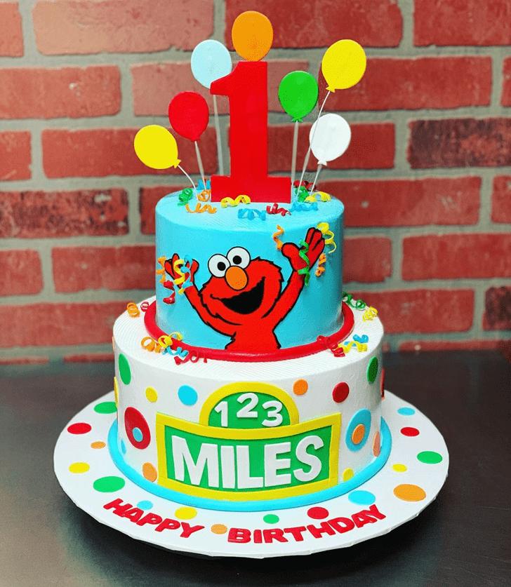 Good Looking Elmo Cake