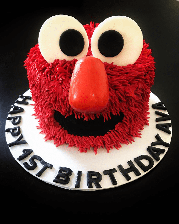 Lovely Elmo Cake Design