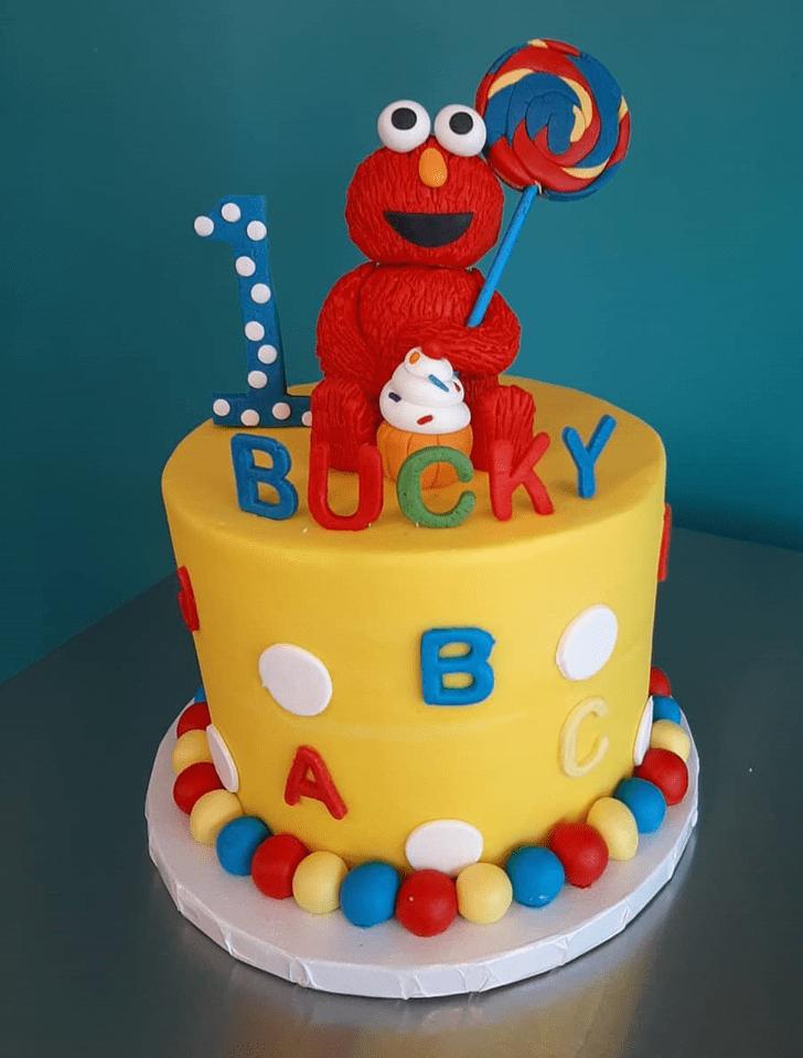 Radiant Elmo Cake