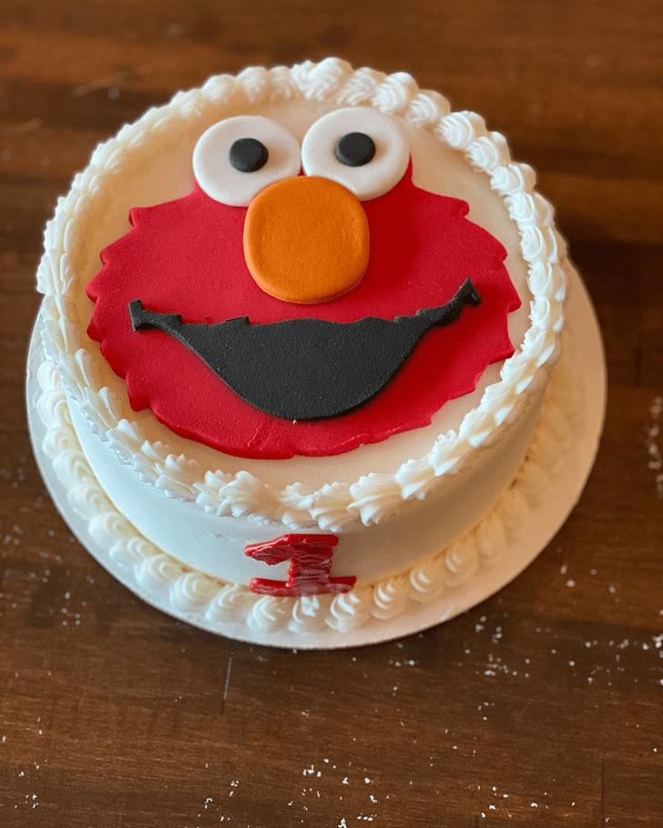 Resplendent Elmo Cake