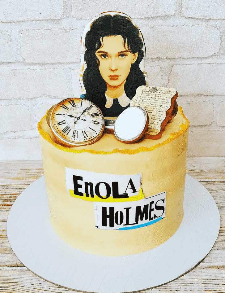 Admirable Enola Holmes Cake Design