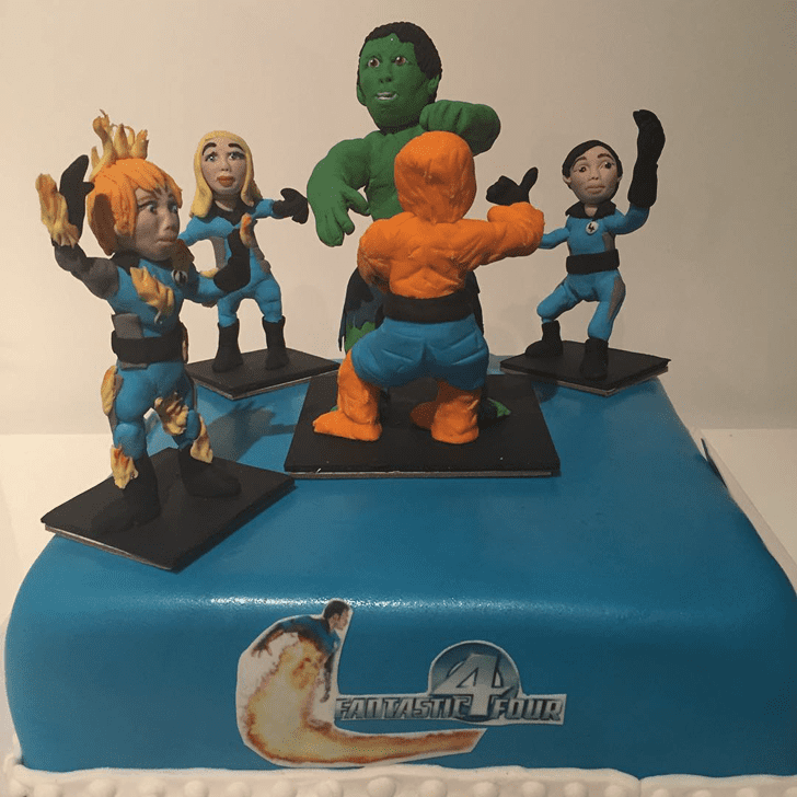 Admirable Fantastic Four Cake Design