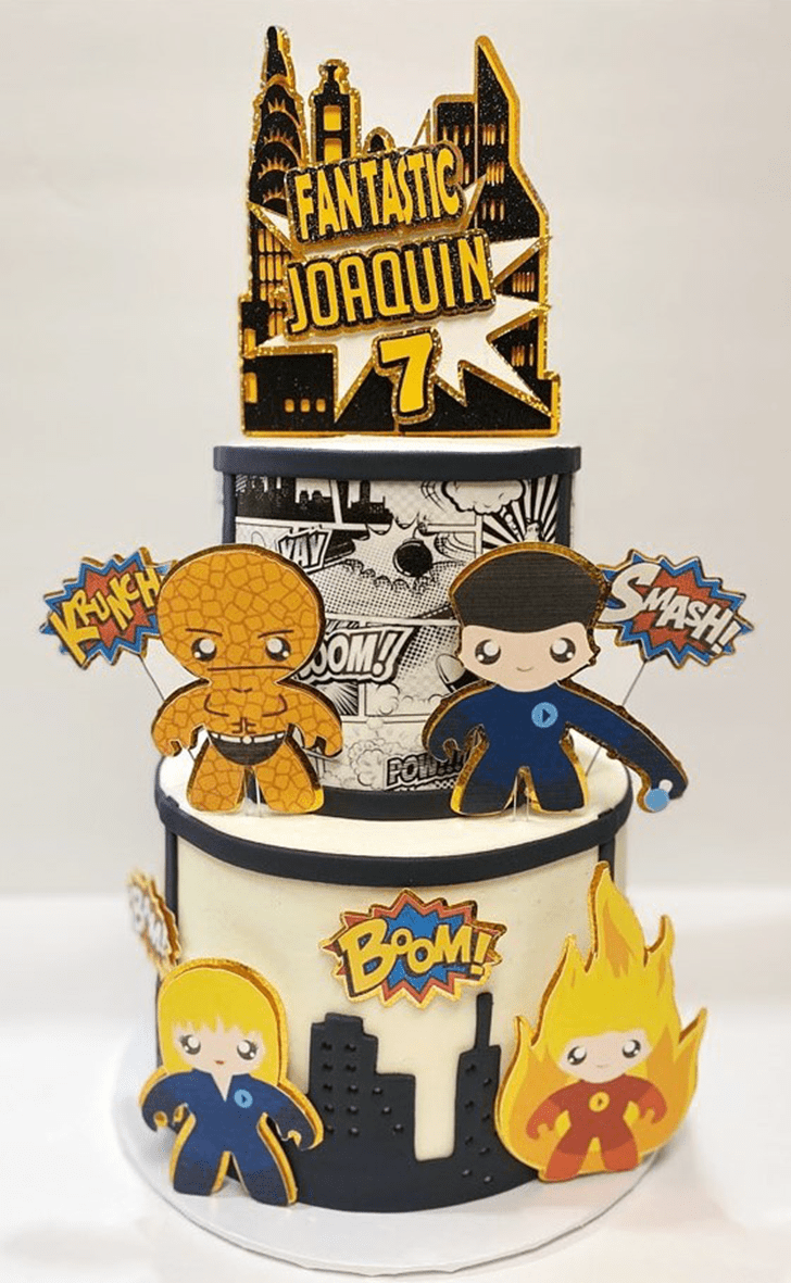 Angelic Fantastic Four Cake