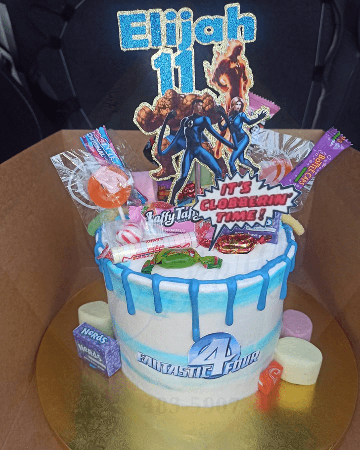 Appealing Fantastic Four Cake