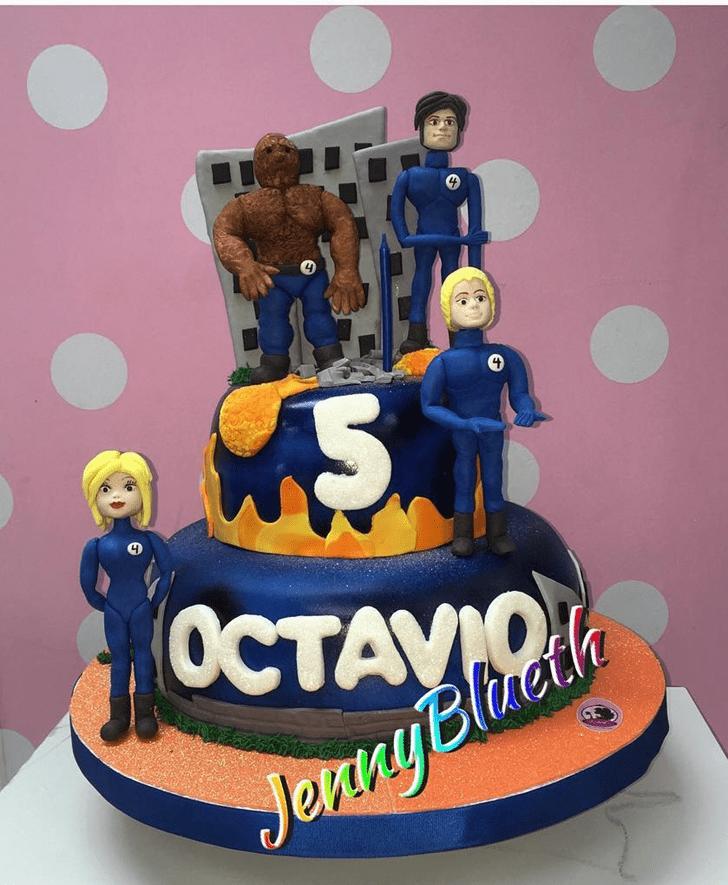 Bewitching Fantastic Four Cake